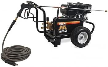 Mi-T-M JCW-3504-2MHB JCW Series Cold Water Belt Drive, 389cc Honda OHV Gasoline Engine, 3500 PSI Pressure Washer