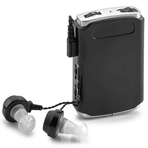 Amplificador de sonido - Dispositivo de mejora de la voz de bolsillo con Duo Mic/Ear Plus Extra Headphone and Microphone Set, Dispositivo personal de amplificación del sonido by MEDca
