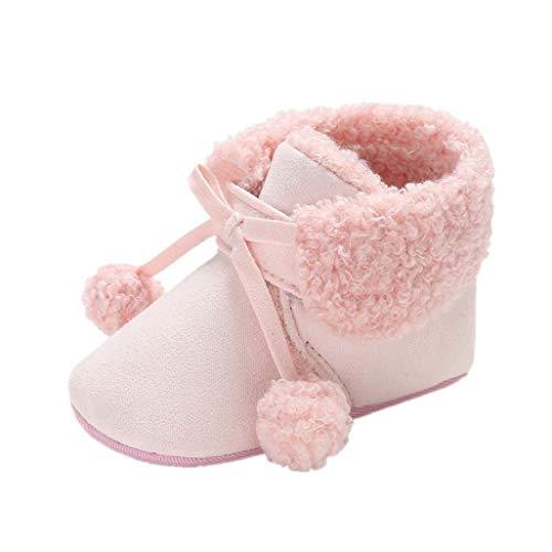 Baby Mädchen Winterschuhe Auxma Baby warme Stiefel,Kleinkinder Anti-Rutsch Sneaker,Neugeborene weiche Sohle Krippe Schuhe für 0-6 6-12 12-18 Monate (6-12 Monate, Rosa)