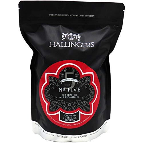 Hallingers Gourmet-Kaffee aus Südamerika & Asien, schonend langzeit-geröstet (500g) - No. Five (Aromabeutel) - zu Passt immer