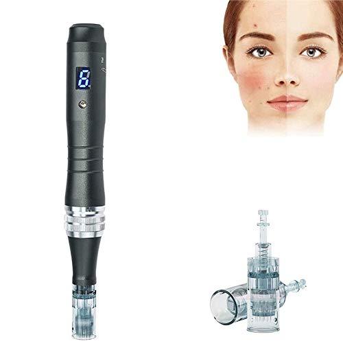 WRQ Dermapen Professional Derma Pen Kit 0.25Mm ~2.5Mm Eléctrico Inalámbrica Alta Frecuencia contra El Acné -Estiramiento Piel-Reducción Arrugas