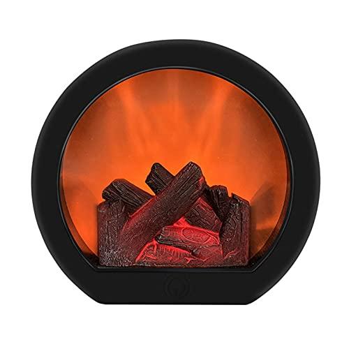 Lámpara de chimenea, lámpara de chimenea, sin llama, LED, decorativa, sin llama, brillante, sin llama, LED, artificial, efecto de fuego, lámpara de chimenea, estilo vintage