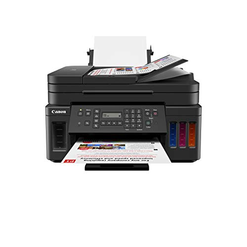 Canon G7020 All-in-One Wireless Supertank (Megatank) Printer, Copier, Scan, Fax and ADF with Mobile Printing, Black
