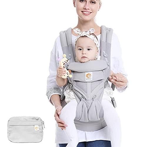 Portabebé,Eslinga de bebé,Portabebés de bebé,Ligero y transpirable,Mochilas de bebé ergonómicas transpirables para portabebés