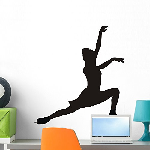 Wallmonkeys Figure Skating Wall Decal Peel and Stick Graphic WM177928 (24 in H x 22 in W)