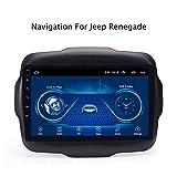 DAETNG Autoradio mit WiFi Bluetooth, Multimedia-GPS-Navigationssystem, Unterhaltungsradio-Video, digitaler HD-Multitouch-Bildschirm, Android 8,1 bis 10,1 Zoll für Jeep Freeman (2011-2013),WiFi:1+16g