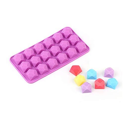 N /A Moldes de Chocolate de Silicona para HornearCubo de Hielo Hacer Pastel de Caramelo Pudín para HornearBandeja de gominolasDecoraciones Moldes de Pastel DIY