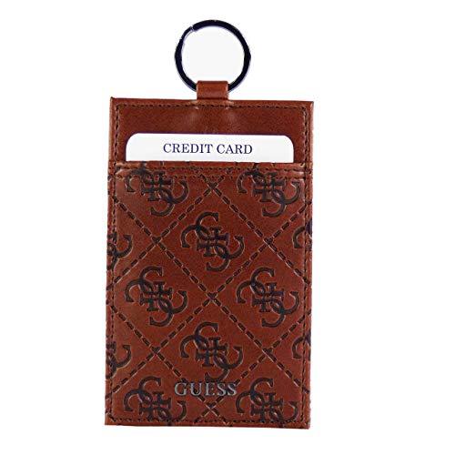 Guess Miami Keyring mit Kartenfach Braun (10,5 x 6,7 x 0,3 cm)
