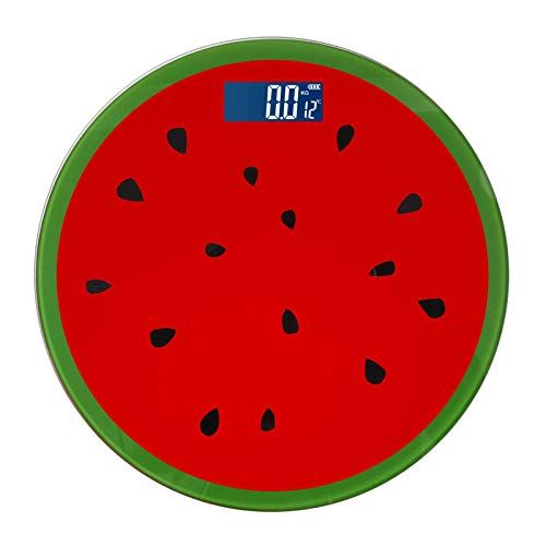 chuanglanja Báscula doméstica de Peso de Alta precisión báscula electrónica báscula de Salud de Frutas generación-sandía_28X28CM