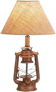 Vintage-Look Camping Lantern Table Lamp