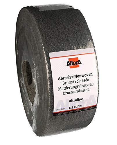 AllorA Mattierungsvlies Schleifvlies Rolle grau 115 mm x 10 m Korn 1500