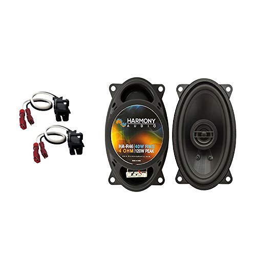 Compatible with Chevy S-10 Pickup 2002-2004 Front Dash Factory Replacement Harmony HA-R46 Speakers