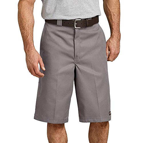 Dickies Men's 13 Inch Loose Fit Multi-Pocket Work Short, Silver, 40