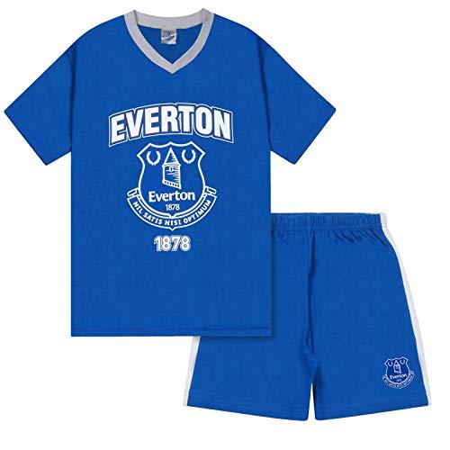 Everton FC Official Football Gift Boys Short Pyjamas Royal 10-11 Years