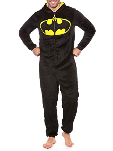 DC Comics Mens Batman Onesie Size Medium Black