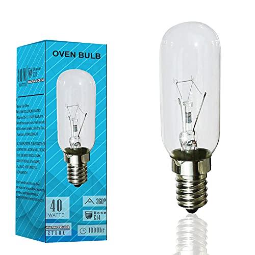 AcornSolution 40W Dunstabzugshaubenlampe Lampe,SES Dunstabzugshaube, Dunstabzugshaube Glühbirne,E14-Gewinde, T25, 240V AC, auch für Öfen geeignet [Energieklasse E] (1er Pack)