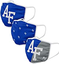 FOCO Air Force Falcons NCAA Face Cover - Adult - 3 Pack, Team Logo