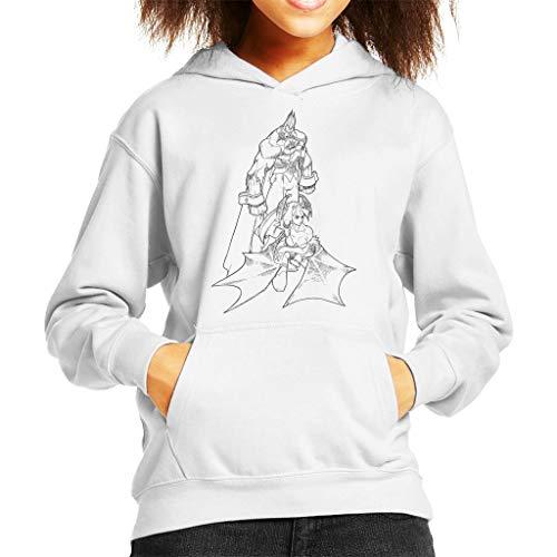 Cloud City 7 Demitri Maximoff and Morrigan Aensland Darkstalkers Kid's Hooded Sweatshirt