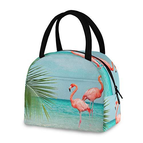 RELEESSS - Bolsa térmica para el almuerzo, diseño de flamenco, para pájaros, reutilizable, para mujeres, hombres, niñas y niños