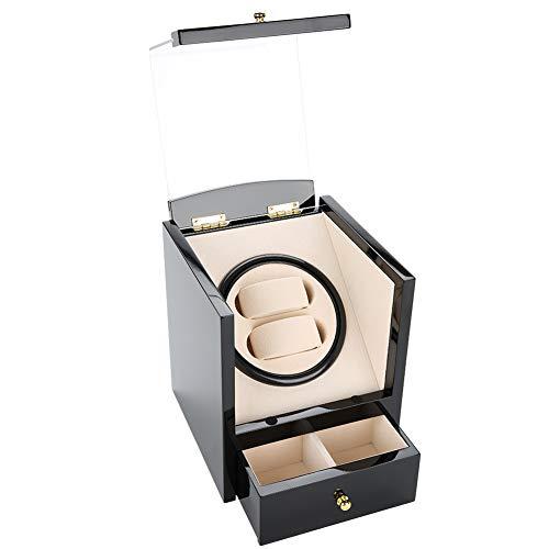Hacrft Black Watch Box Slot Watch Funda Reloj De Bobinado Automático Box...