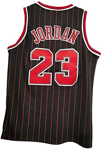 xzl NBA - Camiseta de baloncesto para hombre, 23 # Michael Jordan-Chicago Bulls, 90S Hip Hop ropa para fiesta, unisex retro bordado malla Jersey, B1 - S