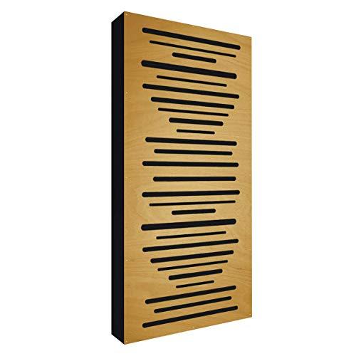 AbFuser WOOD 100x50x11,5cm by Addictive Sound | Hybride Akustikelemente verbessert die Raumakustik und Schalldämmung | Akustikpaneele – Light Brown