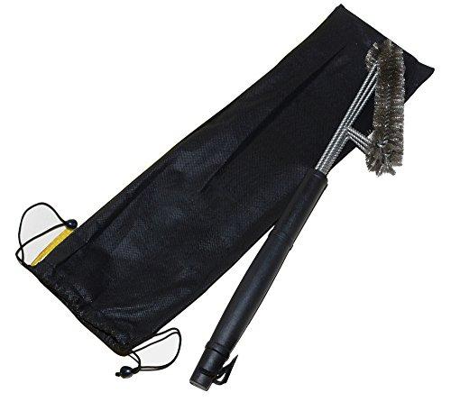 MFTEK - Spazzola per Grill 3in 1, 45 cm, Acciaio Inossidabile, per la pulizia di Grill e Barbecue, di Outdoorchef