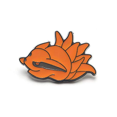 Naruto Bijuu Tailed Beasts Brooch Pin Anime Collection Decorations for Clothing Jacket Hat Backpack (9-Tails Kurama)