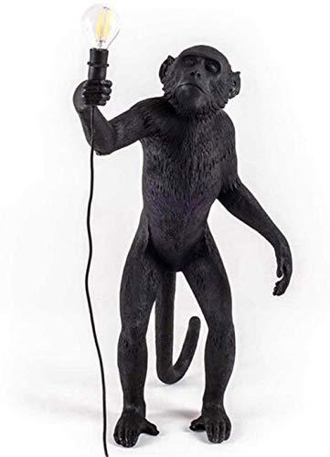 Retro aap kroonluchter, aap wandlamp, aap vloerlamp bureaulamp voor woonkamer studie nachtkastje-Zwarte vloerlamp