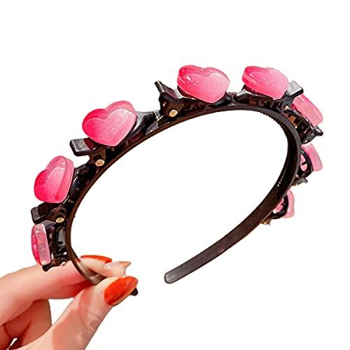 EliteMill Lindo aro para el pelo con clips, diadema multiusos de princesa, accesorios coloridos para el pelo, con dibujos animados creativos, trenzados, para el pelo, flequillo para niñas