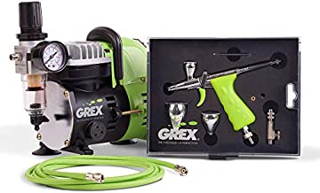Grex GCK03 Airbrush Combo Kit with Tritium.TG3 Airbrush, AC1810-A Compressor, Accessories and DVD by Grex Airbrush