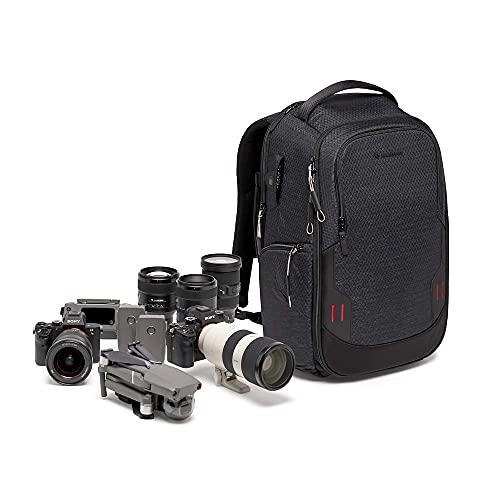Manfrotto PRO Light Frontloader M, Zaino per Reflex e Fotocamere Mirrorless, Accesso Laterale e Frontale, Attacco per Treppiede, Divisori Intercambiabili, Nero