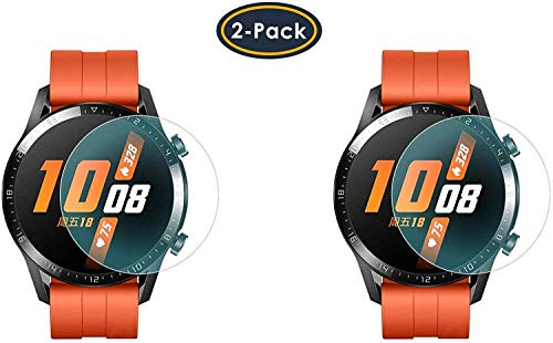 M.G.R.J® Tempered Glass Screen Protector for Huawei Watch GT 2 46mm (Sport/Classic/Elite Edition) (Pack of 2)