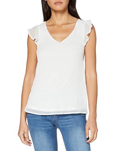 Springfield Especial Frq Telediario-C/97 Camiseta, Blanco (White_Print 97), XS (Tamaño del Fabricante: XS) para Mujer