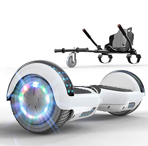 SOUTHERN WOLF Hoverboards para niños, patinetes eléctricos con Altavoz Bluetooth y Luces...
