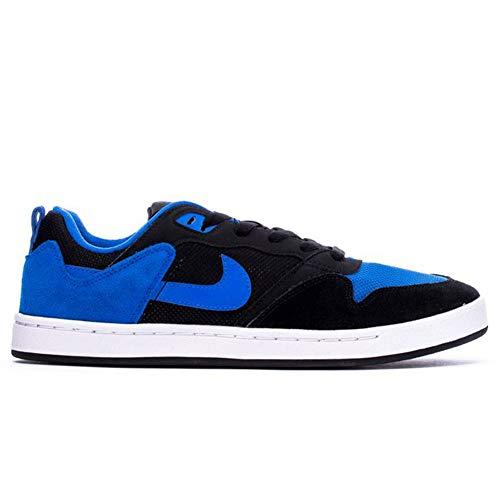 Nike SB Alleyoop Zapatillas de skate de ante para hombre, azul (Negro/Azul Real/Negro), 46 EU
