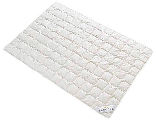 PROCAVE Wildseide Exquisit Qualitäts-Bettdecke für den Sommer 155x200cm, leichte Sommerbettdecke, Tussahseide, aus der Natur, atmungsaktiv & wärmeausgleichend, 100% aus Deutschland