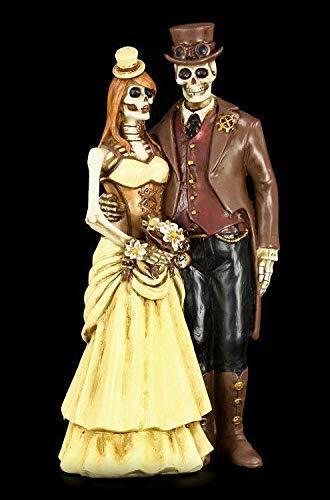 Gothic Esqueleto Pareja de Novios Figura - Steampunk - i Do Figura de...