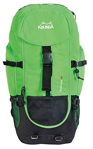 Kounga Bonpland Mochila, Adultos Unisex, Verde, 60L