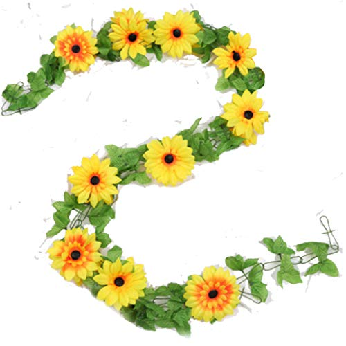 Artificial Flowers Sun flower Vines Hanging Silk Flowers Garland for Wedding Party Home Decor Wall Decor Party Arch Garden Home Favor
