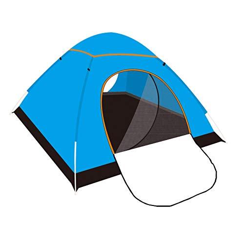 Tienda de campaña WUDLINDY automática para familias 2-3 personas Parejas tiendas de campaña ligera con bolsa de paquete, juego rápido con protección UV Mochila, camping para picnic al aire libre