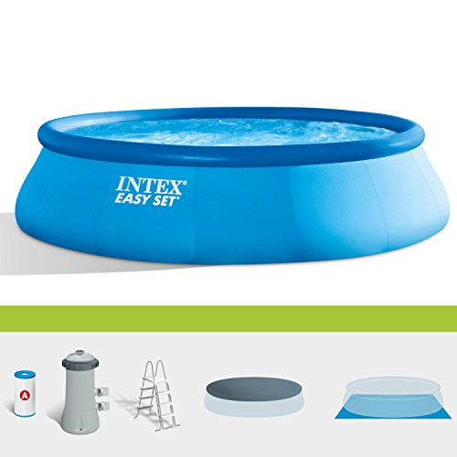 INTEX PISCINA GONFIABILE EASY SET POOL CM 457X122 + POMPA FILTRO GIARDINO