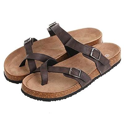 Double Buckle Slip on Comfy Slides Summer Sandals