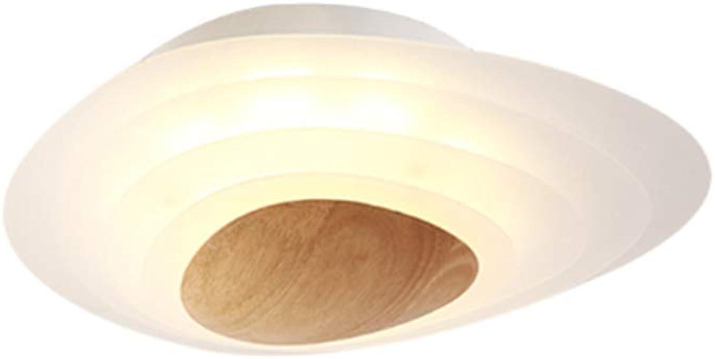 Nordic Acryl Wohnzimmerlampe Creative Deckenleuchte Schlafzimmer Lampe, Einfache Massivholz-Deckenleuchte Im Japanischen Stil