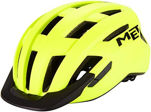 MET Casco Ciclismo AllRoad Colore Giallo Fluo Tg. M (56-58)