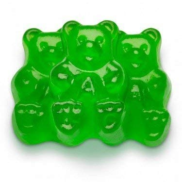 FirstChoiceCandy Albanese Gummy Bears (Green Apple, 1 LB)