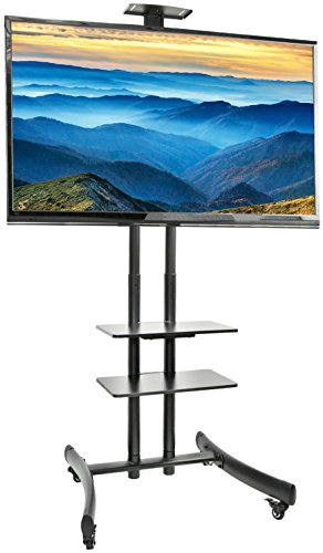 VIVO TV Cart for LCD LED Plasma Flat Panel Stand Mount w/Mobile Wheels fits 30' to 70' Screens (STAND-TV06G)