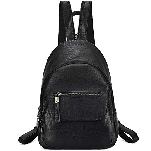 Women Backpack Purse PU Leather Zipper Convertible Sling Shoulder Pockets Bags