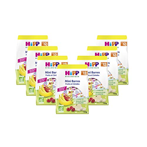 Hipp Biologique Mini Barres Fruits/Céréales Dès 12 Mois 7 Sachets de 100 g