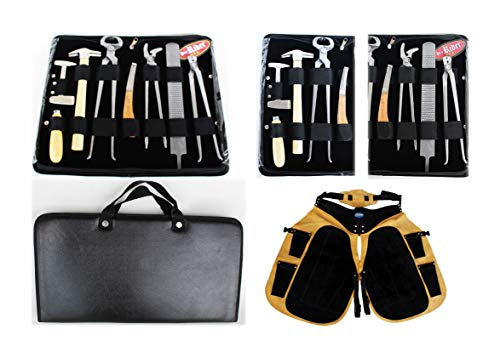 ProRider USA Horse Farrier Tool Equine Hoof Care Tool Kit w/Apron 98498